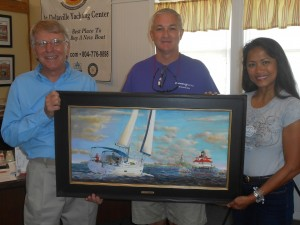 Oil painting of 2015 Catalina 445 – Deltaville Yachting